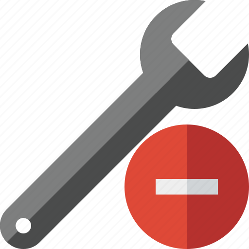 repair, spanner, stop, tool, wrench icon