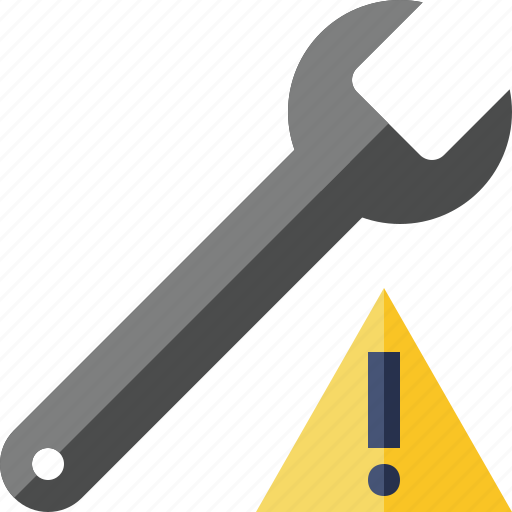 repair, spanner, tool, warning, wrench icon
