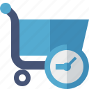 business, buy, clock, ecommerce, history, shopping icon