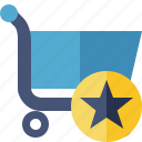 shopping, star, buy, ecommerce, business icon