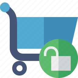 business, buy, ecommerce, shopping, unlock icon