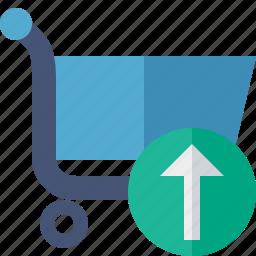 business, buy, ecommerce, shopping, upload icon