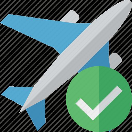 airplane, flight, ok, plane, transport, travel icon