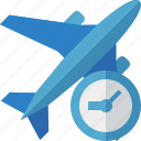 flight, clock, travel, plane, airplane, transport