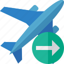 airplane, flight, next, plane, transport, travel icon