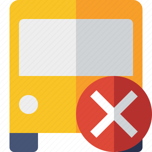 bus, cancel, public, transport, transportation, travel, vehicle icon