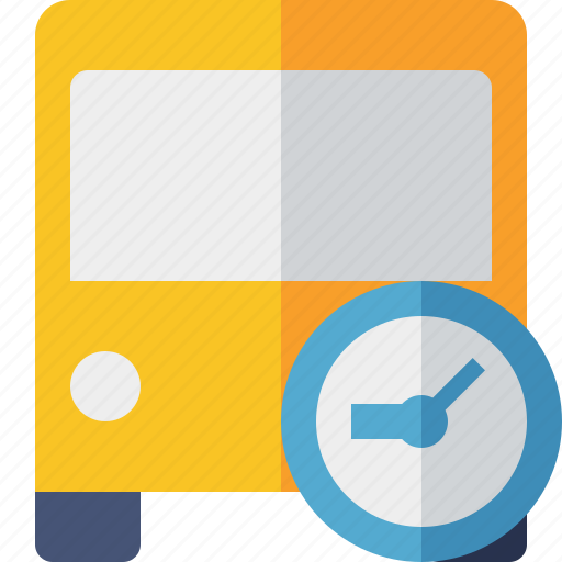 Bus, clock, public, transport, transportation, travel, vehicle icon - Download on Iconfinder