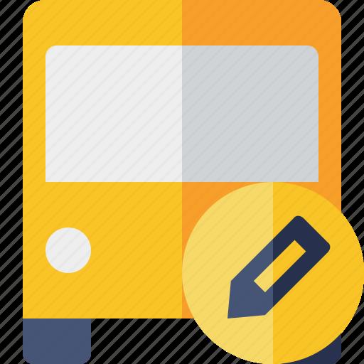 bus, edit, public, transport, transportation, travel, vehicle icon
