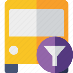 bus, filter, public, transport, transportation, travel, vehicle icon