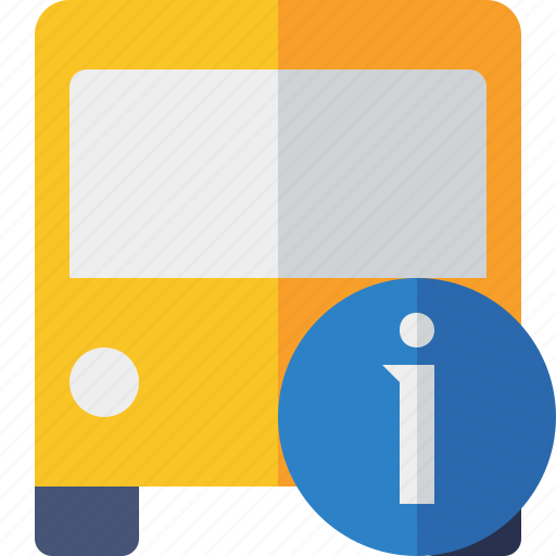 bus, information, public, transport, transportation, travel, vehicle icon