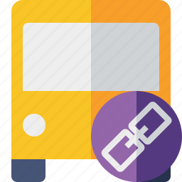 bus, link, public, transport, transportation, travel, vehicle icon