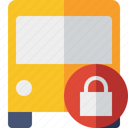 bus, lock, public, transport, transportation, travel, vehicle icon