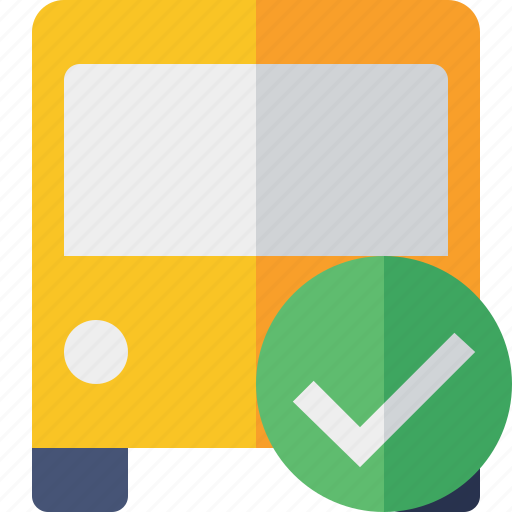 bus, ok, public, transport, transportation, travel, vehicle icon