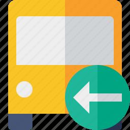 bus, previous, public, transport, transportation, travel, vehicle icon