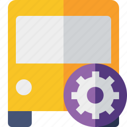bus, public, settings, transport, transportation, travel, vehicle icon