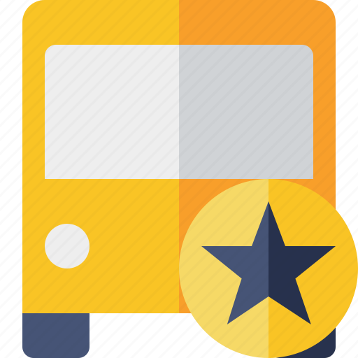 bus, public, star, transport, transportation, travel, vehicle icon