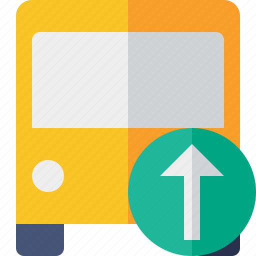 bus, public, transport, transportation, travel, upload, vehicle icon