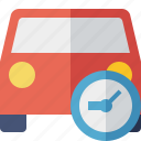 auto, car, clock, traffic, transport, vehicle icon