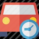 auto, car, clock, traffic, transport, vehicle icon