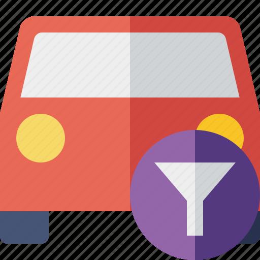 auto, car, filter, traffic, transport, vehicle icon