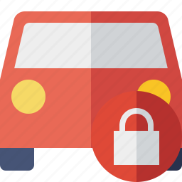 auto, car, lock, traffic, transport, vehicle icon