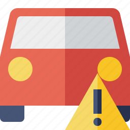 auto, car, traffic, transport, vehicle, warning icon