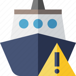 cruise, sea, ship, transport, travel, vessel, warning icon