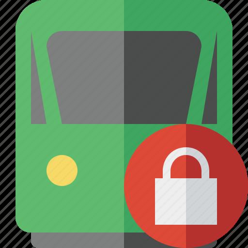 delivery, lock, railway, train, transport, travel icon