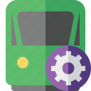settings, travel, delivery, train, railway, transport