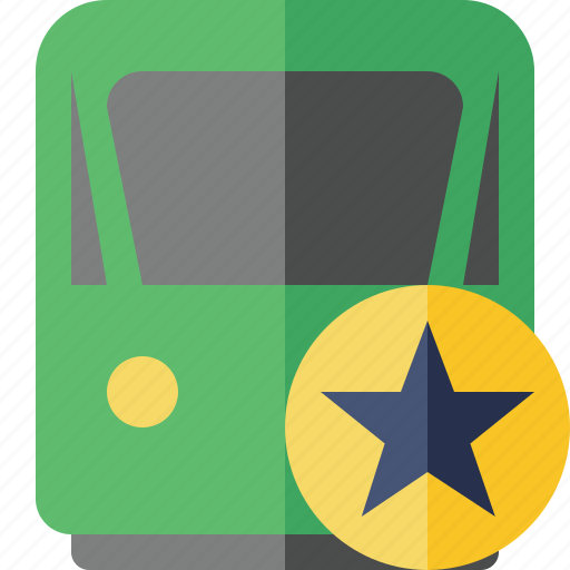 delivery, railway, star, train, transport, travel icon