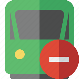 delivery, railway, stop, train, transport, travel icon