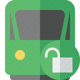 delivery, railway, train, transport, travel, unlock icon