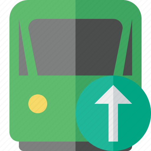 delivery, railway, train, transport, travel, upload icon