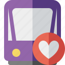 favorites, public, train, tram, tramway, transport icon