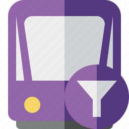 filter, public, train, tram, tramway, transport icon