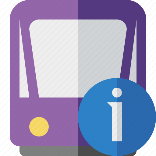information, public, train, tram, tramway, transport icon