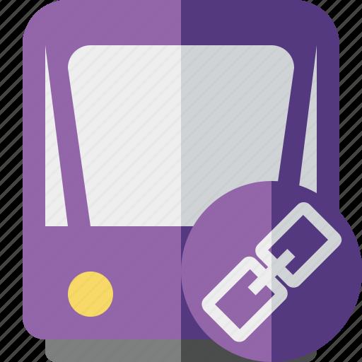 link, public, train, tram, tramway, transport icon