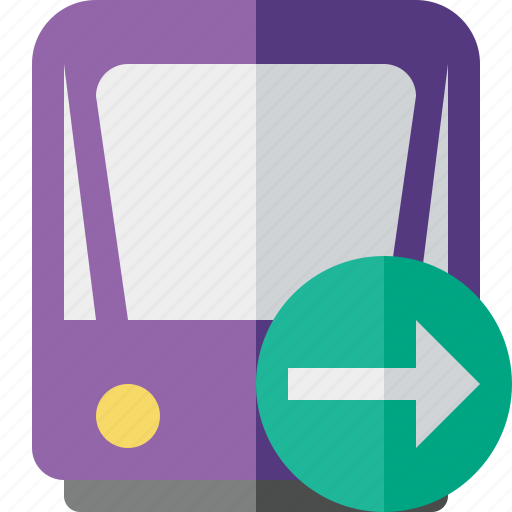 next, public, train, tram, tramway, transport icon