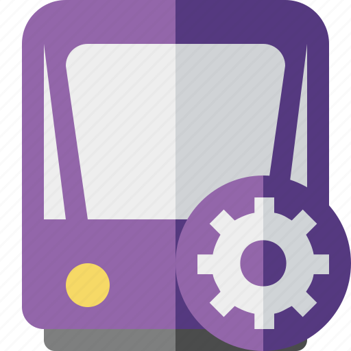public, settings, train, tram, tramway, transport icon