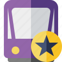 public, star, train, tram, tramway, transport icon