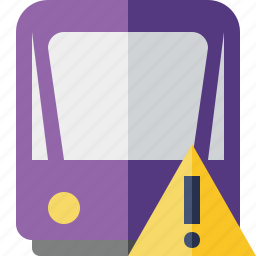 public, train, tram, tramway, transport, warning icon