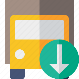 delivery, download, transport, transportation, truck, vehicle icon