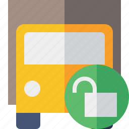 delivery, transport, transportation, truck, unlock, vehicle icon
