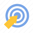 business goal, strategy, target icon