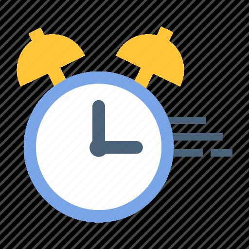 alarm clock, deadline, time management icon