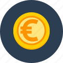 business, coin, euro, finance icon