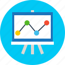 business, chart, finance, reseach icon