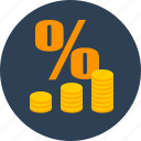 business, coins, finance, money icon