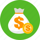 big, business, coins, finance, money icon