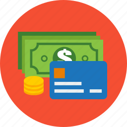 business, card, coins, credit, finance, money icon
